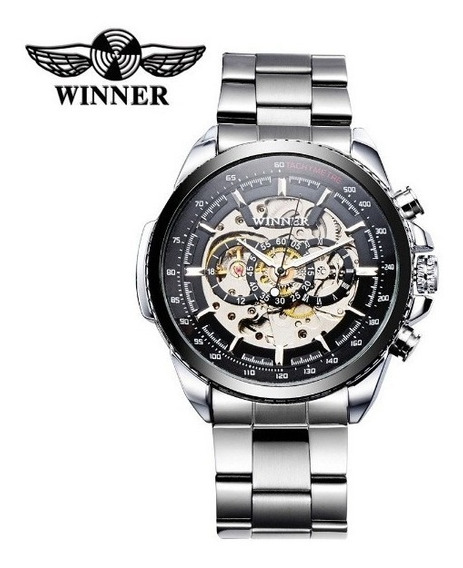 Relógio Masculino Automático Winner Vencedor Inox Esporte