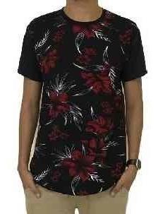8 Unidades Camiseta Oversized Longline Camisa Blusa Masculin