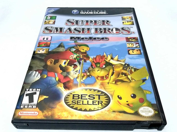 Super Smash Bros Malee Gamecube Original Completo
