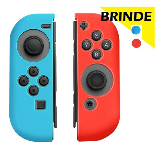 Par Capas De Silicone Para Controles Nintendo Switch Joycon
