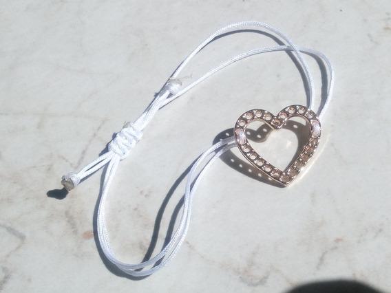 Pulsera Con Corazón Chapado En Oro