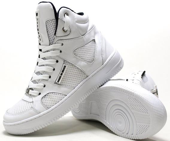Sneaker Feminino Masculino Basquet Bota Academia Couro Promo