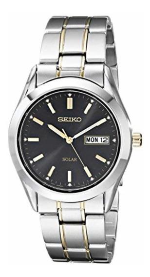 Seiko Reloj Calendario Solar En Dos Tonos