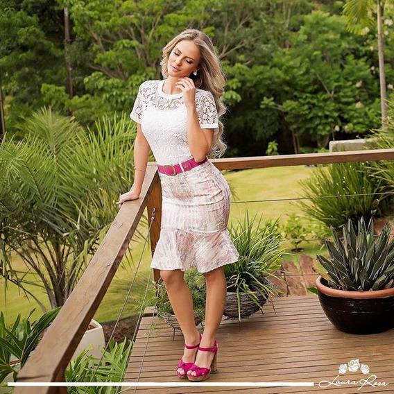 Saia Sarja Sino - Laura Rosa - Moda Evangélica - Lr 8828