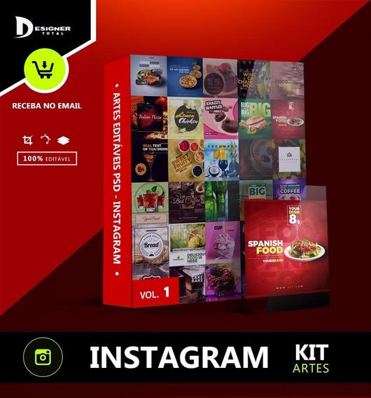 Artes Psd Instagram Food Drink Comida Bebida + Fontes + Jpg