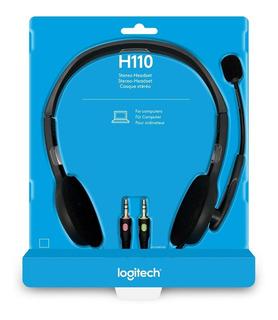 Auricular Con Microfono Logitech H110 Stereo Mini Plug Doble