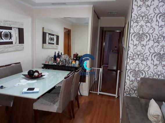 Apartamento Com 3 Dormitórios À Venda, 89 M² Por R$ 450.000,00 - Monte Castelo - São José Dos Campos/sp - Ap1128