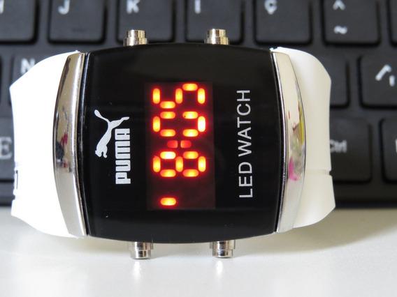 Relógio Unisex Quadrado Digital Led Roxo Novidade Top Barato