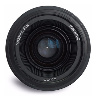 Lente Yongnuo Nikon 35mm F2.0 Af Mf Gran Apertura Manua Envi