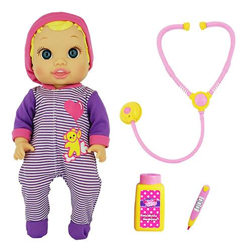 Imagen 1 de 9 de Bebe Doctor Muñeca Sonido Little Darling Pce 3494 Bigshop