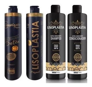 Lisoplastia Gold 500ml + Kit Shampoo E Condicionador 300ml