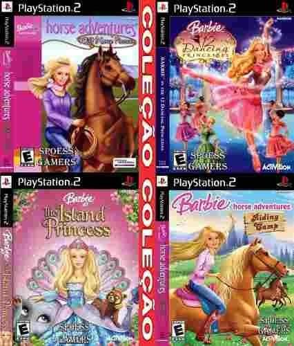 Barbie Ps2 Coleção (4 Dvds) Patch Meninas Infantil