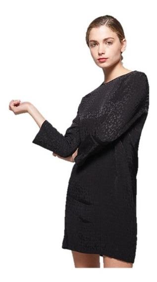 Vestido Semi Formal Básico Negro Corto Talla S - M