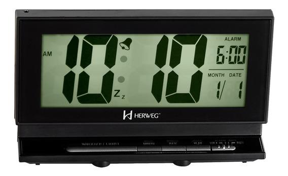 Relógio Despertador Alto Digital Luz Permanente A Noite 2946