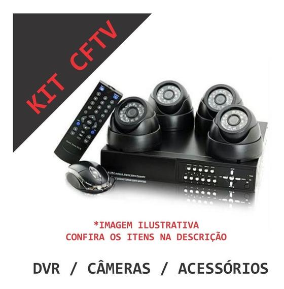 Kit Cftv Com Dvr Cameras E Acessorios Faça O Seu