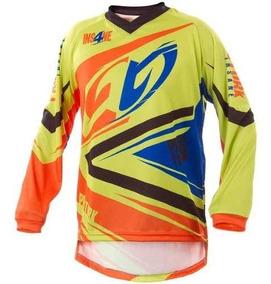 Camisa Motocross Trilha Enduro Pro Tork Insane 4 Amarelo