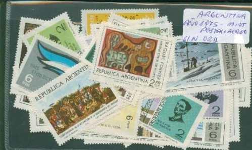Estampillas Argentinas Mint Año 1975 ¡ Completo !