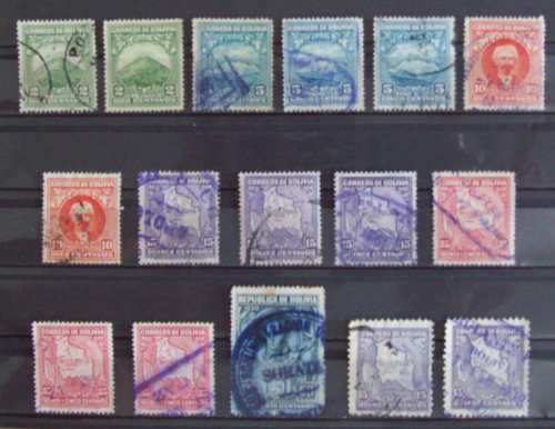 Bolivia, Lote 16 Sellos Serie 1931 L0252
