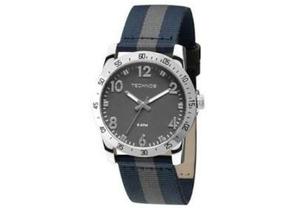 Relógio Technos 2036loz0c Prata/azul-marinho