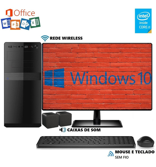 Computador Completo Intel Core I5 10gb 2tb Monitor Windows