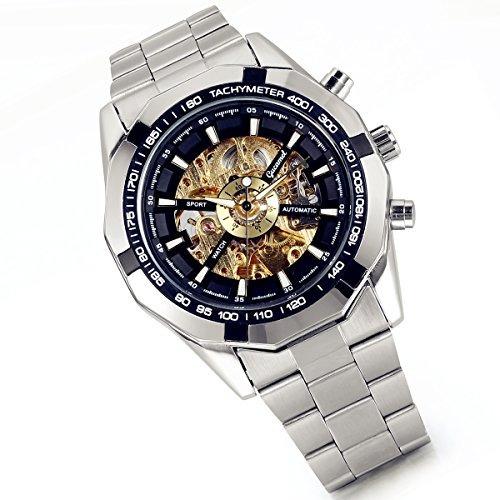 Lancardo Reloj Comercial Mecánico Automático Con Dial Hueco