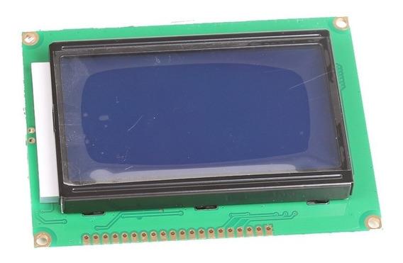 Display Lcd Gráfico 128x64 Com Back Azul - Nota Fiscal