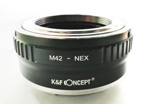 Adaptador K&f Lente M42 Em Câmera Sony