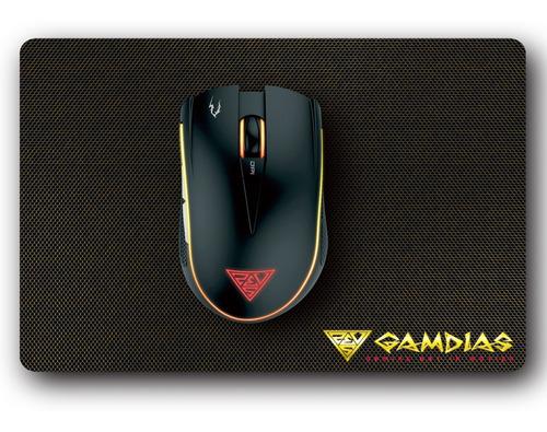 Imagem 1 de 6 de Combo Gamdias Mouse Gamer 3200dpi Zeus E2 + Mouse Pad Nyx E1