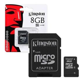 Memoria Micro Sd 8 Gb Kingston Blister Sellado Clase 4