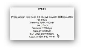 Servidor Vps 01 512mb Linux Ou Windows. Tráfego Ilimitado.