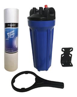 Carcasa Azul 10 Pulgadas Filtro Agua Cartucho Polipropileno