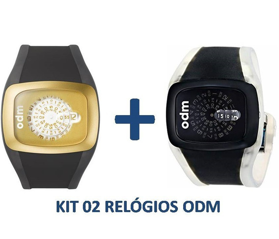 Kit 02 Relógios - Odm O.dd100-14 + Odm O.dd100-1 - C/ Nfe