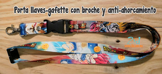 Lanyard / Cordón Porta Llaves Temática Vegeta Dragon Ball