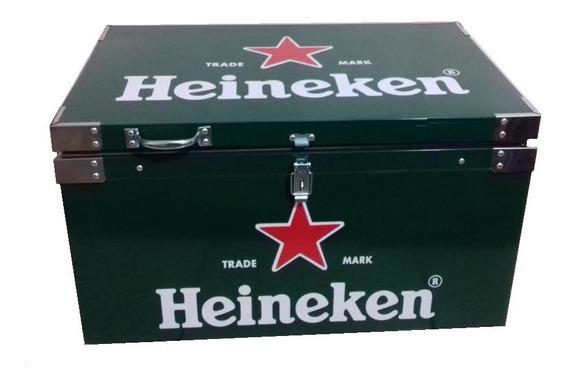 Caixa Térmica 120 Litros Heineken Aço Galvanizado
