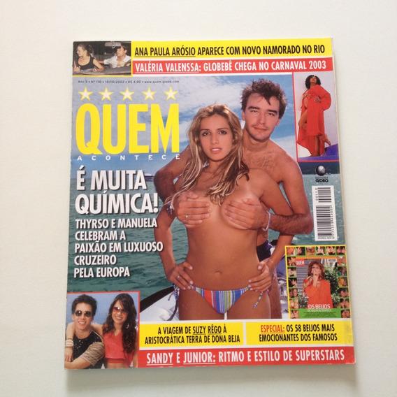 Revista Quem Sandy Junior Thyrso E Manuela Suzy Rêgo A217