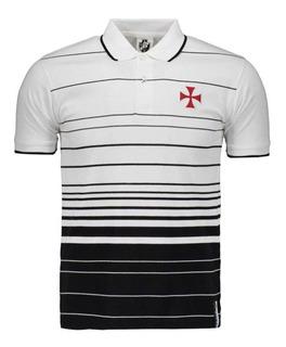 Camisa Polo Infantil Vasco Da Gama Fio Tinto Oficial + Nf