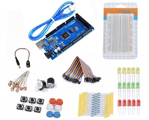 Kit Arduino Mega 2560 Iniciante + Protoboard+de 80 Pcs +pdf