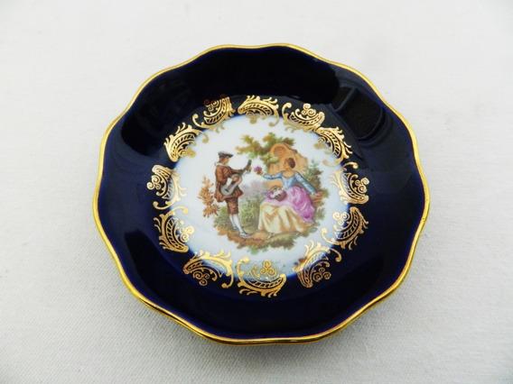 Plato Decorativo Porcelana Limoges Con Escena De 10,5