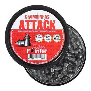 Chumbinho Pointer Attack 5.5mm 125un.