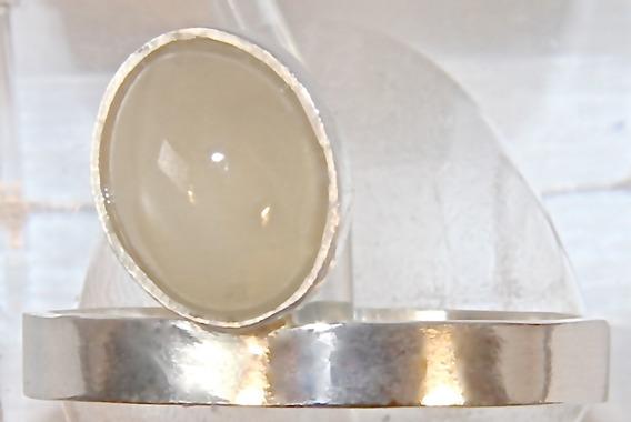 Rsp J4962 Anel Solitário Prata 950 Pedra Da Lua Olho De Gato