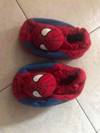 Pantuflas Del Hombre Araña Para Niño