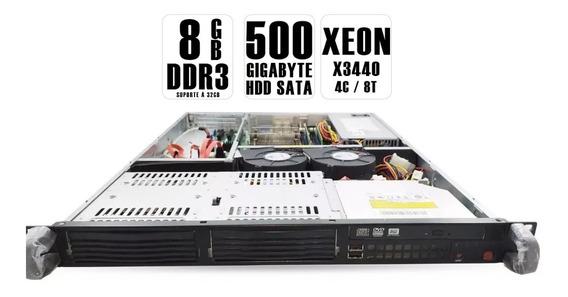 Servidor Supermicro Blade 1u Xeon X3440 2.41ghz 8gb 500gb