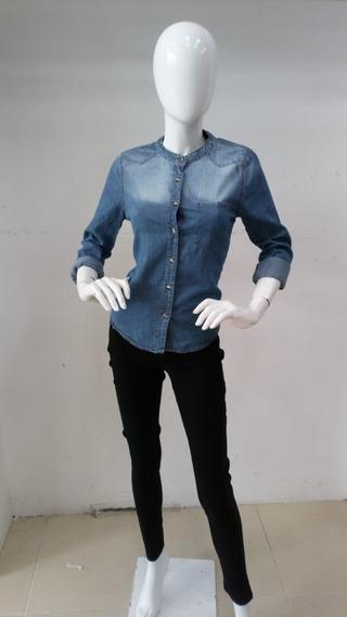 fc9117822d21 Bonita Camisa De Mezclilla Para Dama!!! - Ropa, Bolsas y Calzado en ...