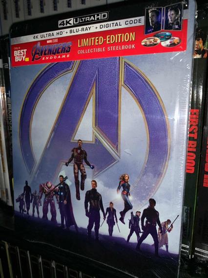 Avengers Endgame Blu Ray Steelbook 4k+br+dc Imp Usa
