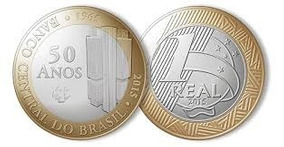 Moeda 1 Real Comemorativa - 50 Anos Banco Central