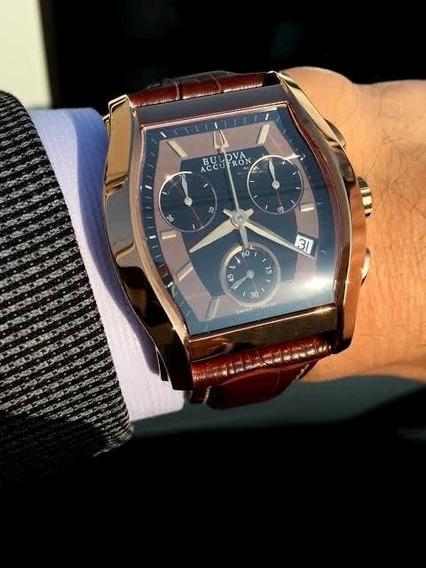 Relógio Bulova 64b112 Accutron Stratford Cronógrafo Excelent