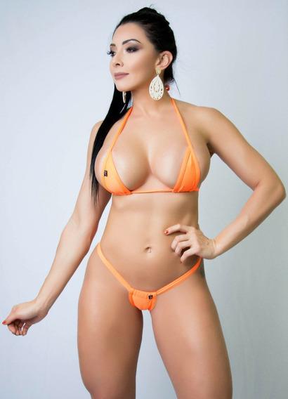 Mini Biquini Anna Carol Bikini Fio Dental Micro-3 Cóslargo