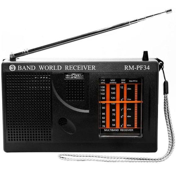 Rádio Motobrás Rm-pf34 5 Faixas Fm