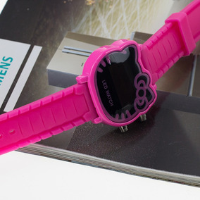 Relógio De Pulso Adolescente/criança Hello Kitty Led - Pink