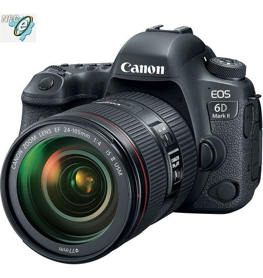 Canon Eos 6d Mark Ii Lente 24-105mm F/4l Is Ii Usm Nota Fiscal